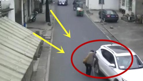 """""""影帝级""""碰瓷大爷,如果不是有监控拍下,司机又要""""遭殃""""了!"""