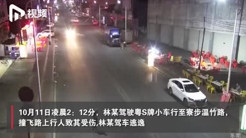 驾车撞飞路人逃逸几公里再撞绿化带,东莞一司机被警方拘留