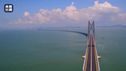 港珠澳大桥正式通车运营一周年 航拍带你俯瞰壮观景象