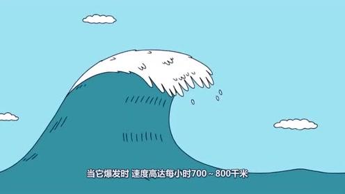 海啸的破坏力到底有多可怕?3D动画模拟,看完让人后怕