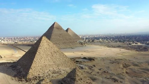 一生必去系列:埃及金字塔,无人机视角更添了几分神秘