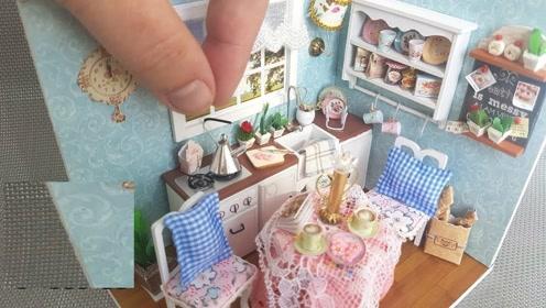 diy微型制作:迷你可爱小菜碟架子