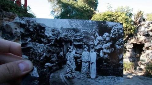 日本人来中国旅游,在故宫拿着几张老照片对比,瞬间不淡定了
