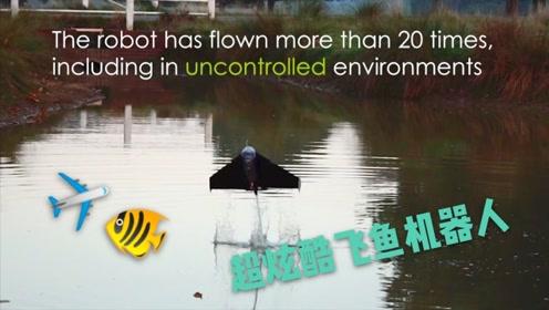 慢镜头炫酷画面! 黑科技飞鱼机器人从水下起飞滑翔