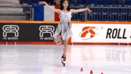 """她是中国轮滑界的女神!颜值令众男粉丝着迷,一招""""天鹅转""""成为全场焦点!"""