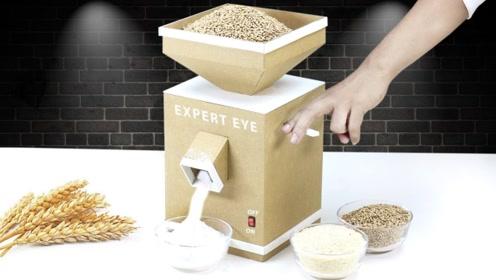 小伙用纸板自制磨粉机 ,这制作真是太有创意了!
