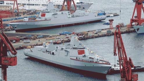"""055万吨驱逐舰的问世,离不开这款""""先驱""""战舰,有付出才有回报"""