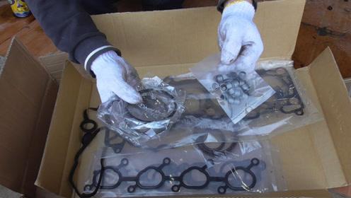 发动机出现漏油或者烧机油的现象,我们需要更换这些密封垫和油封