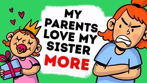 女孩有一个妹妹,本该很开心却发现她夺走了父母的爱,太痛心!