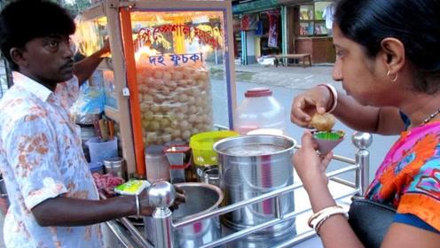 """印度街头徒手做的""""手抓饭"""",绝对原汁原味,吃它需要勇气!"""