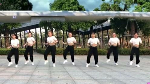 古镇湿地广场舞《男人如虎》DJ原创动感健身舞,跳的真嗨