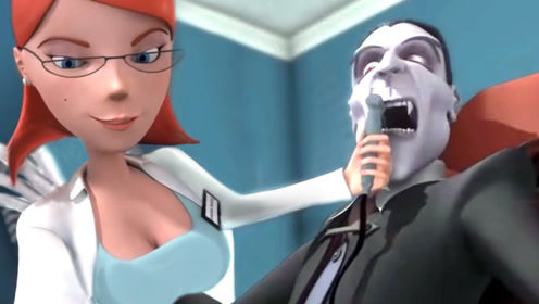 吸血鬼去医院拔牙,还改不了本性想吸血,结果牙齿都掉光了!