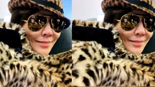 刘嘉玲晒机场美照引争议,被指像一只猎豹,身材显得十分臃肿