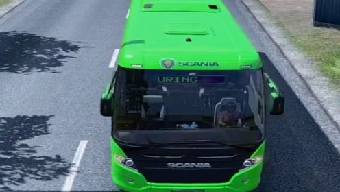 模拟驾驶大巴去拉客,场景太逼真,大巴司机不容易!