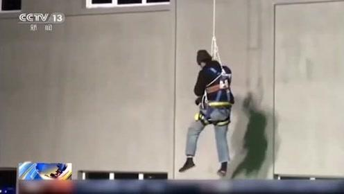 """工人塔吊作业被冻僵 消防员的这一抱真""""暖""""!"""