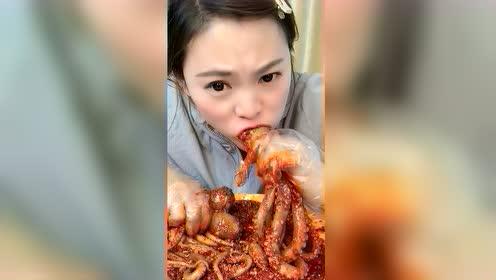 海鲜吃播:火辣大爆头