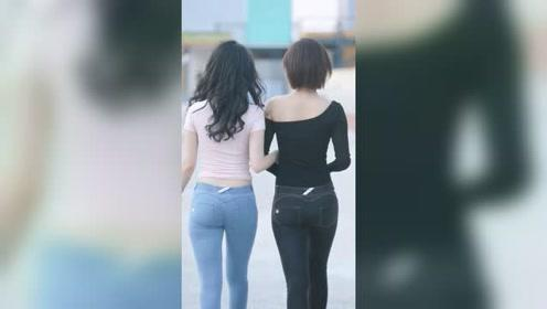 街头遇到的漂亮姑娘,长发美还是短发美?我觉得还是迷人的背影最美