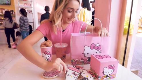 美国第一家凯缇猫甜品店,虏获万千少女的心,看了之后舍不得吃