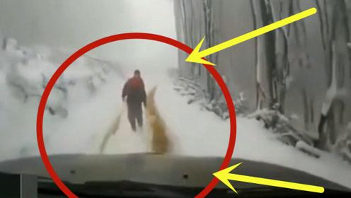 男子雪地下车不拉手刹,下一秒开始疯狂奔跑,原谅我不厚道的笑了!