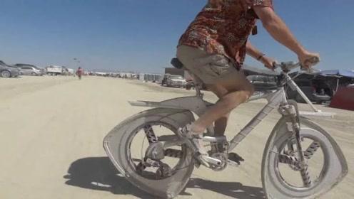 美国小伙发明奇怪自行车,能骑3米就奖励200美元,至今无人成功!