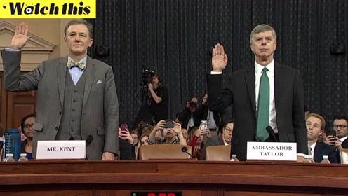 重要证人出席特朗普弹劾听证会:被扣作交换条件的不止军事援助