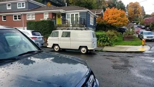 国外街头实拍2冲程老奥迪VAN房车DKW Audi Van
