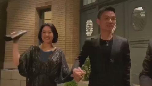 小S携老公出席林志玲婚礼,得意称:老公肌肉比新郎更结实