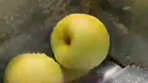 很奇妙的一台机器,把水果放进去的一瞬间我被震惊,是什么原理粉碎的呢?