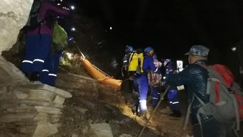 九级风中爬野山,53岁女驴友被吹下20多米高悬崖