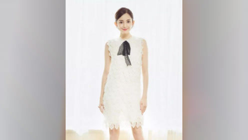 肤白貌美古力娜扎,清新淡雅,气质迷人