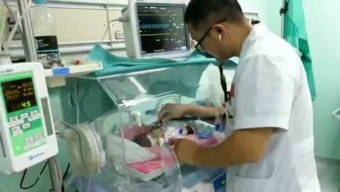 """27个日夜,中国医生让圭亚那两名""""超轻早产儿""""获第二次生命"""
