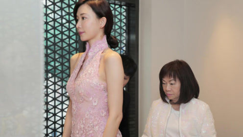 林志玲中式结婚礼服设计手稿曝光 粉色立领露背典雅迷人