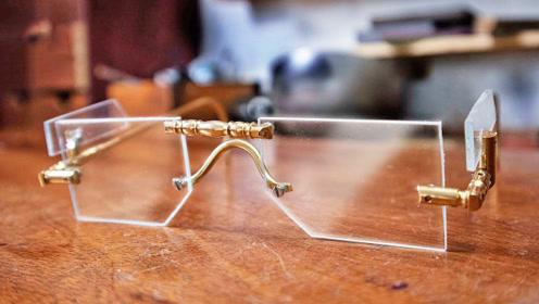 动手牛人自制一副创意款护目镜,手艺独到精湛,成品戴起来挺有范