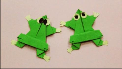 儿童手工制作大全 趣味折纸小青蛙 小跳蛙手工制作教程