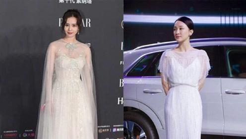 同是珍珠仙女裙,45岁周迅不输32岁刘诗诗,周公子柳腰细腿真迷人