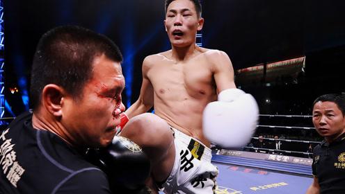 相差13岁中国小将被小瞧!下一秒老外被撞断鼻KO,崩溃离场