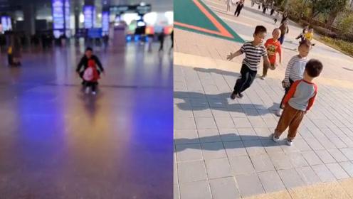 好暖心!男孩请假一周后回学校 一群小朋友飞奔过来拥抱