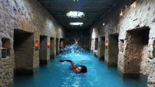 越南小伙地下凿出私人豪宅,自带豪华泳池,网友:帮我也做一个!