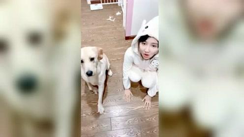 家里养了一个和狗抢食的女人