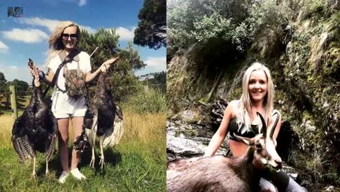 新西兰辣妈带年幼子女捕猎 网上晒照片收死亡威胁