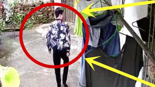 少妇半夜收衣服,发现内衣不对劲,丈夫查看监控实在不能忍!