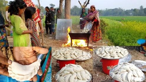 看印度村民如何包饺子,成品像模像样好奇这是啥馅的?