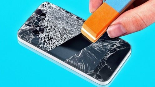 """手机碎屏可以自动修复?日本牛人发明""""黑科技"""",30秒可崭新如初!"""