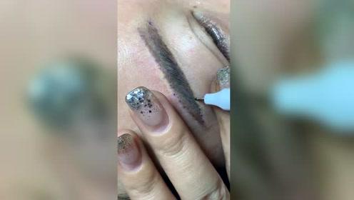 纹眉时马克笔不清晰怎么办?教你这样做,好操作