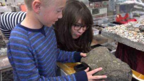 男孩在网上买到一块石头,砸开后竟发现大量钻石,赚翻了!