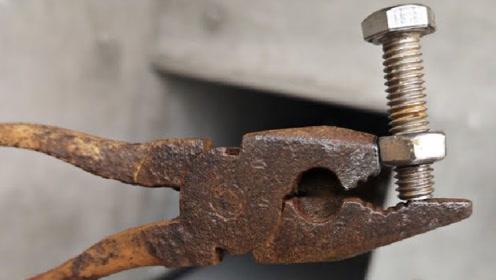 在钳子上焊个螺丝,就有这么好的用处,真是天才的思维