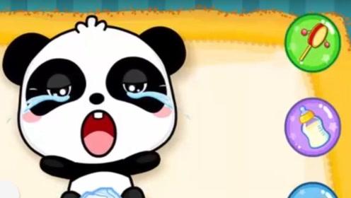 小熊猫变成可爱小娃娃,冲奶喂饭简直也太萌了,真是好宝宝!