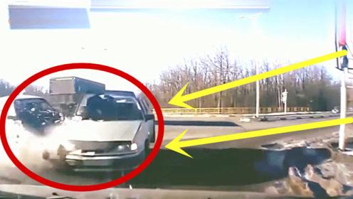 女司机花样作死,哪怕再晚一秒,可能就不会发生这样的事!