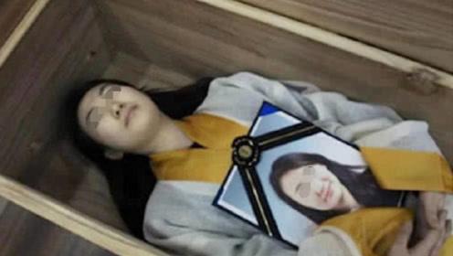 """20岁姑娘体验""""死亡棺材"""",躺进去不到两小时,悲剧发生了!"""