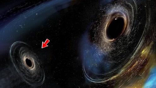 奇怪的极亮星系,由两个星系碰撞而成,三颗巨型黑洞会发生融合